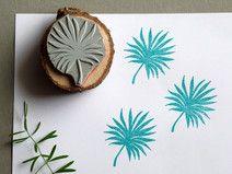 Stempel Fächerpalme Palmwedel