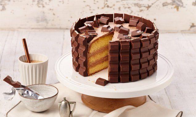 Kleine Kinder Riegel Torte Rezept In 2020 Kuchen Und Torten Kuchen Und Torten Rezepte Und Kinder Riegel