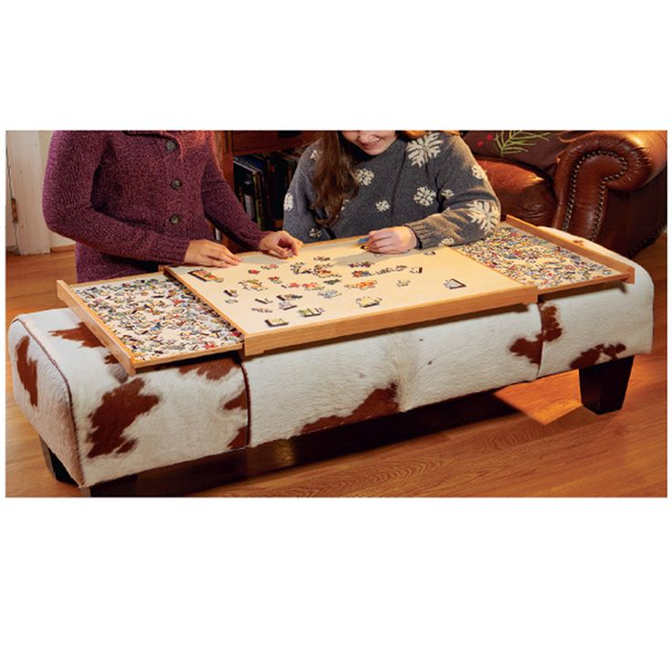 Build Your Own Jigsaw Puzzle Tray Using This Free Plan.