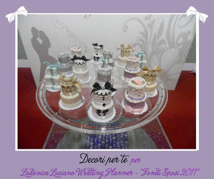 """""""Fondi Sposi"""" mini wedding cake"""