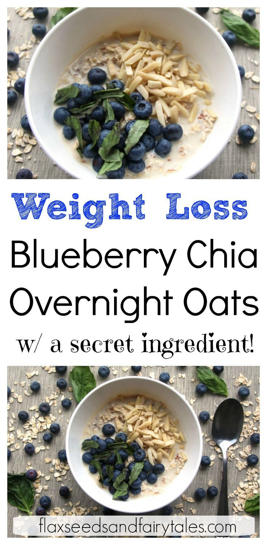 Healthy Blueberry Chia Overnight Oats Vegan Gluten Free