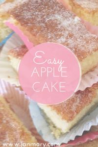 Easy and delicious apple cake recipe - perfect for autumn days. I love cooking or baking with apples, so I'll share this quick easy apple recipe (source of