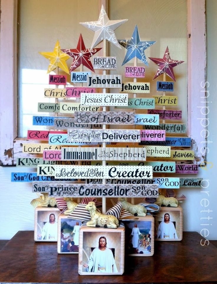 Snippets and Pretties: Christ trees/ Paint Stick trees