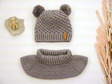 Strickanleitung - Sternchen-Mütze & Schulterschal - alle Größen für Kinder von 0 bis 2 Jahre
