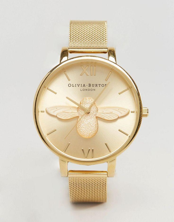 Bild 1 von Olivia Burton – Bumble Bee – Goldfarbene Armbanduhr, OB15AM68