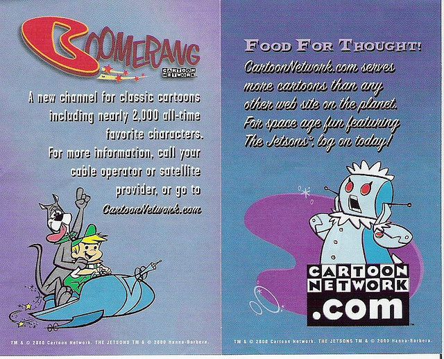 Boomerang From Cartoon Network | The Jetsons Boomerang Cartoon Network ad, 2000 | Flickr - Photo ...