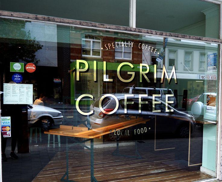 #pilgrim #coffee #gold #signwriting #hobart #tasmania