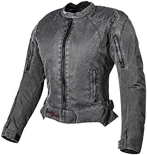 Heart and Soul Women's Mesh Street Bike Racing Motorcycle Jacket - Vintage Black/Red