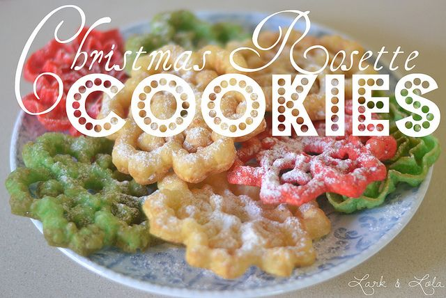 Scandinavian Christmas Rosette Cookies! Love these, they're just like funnel cakes <3