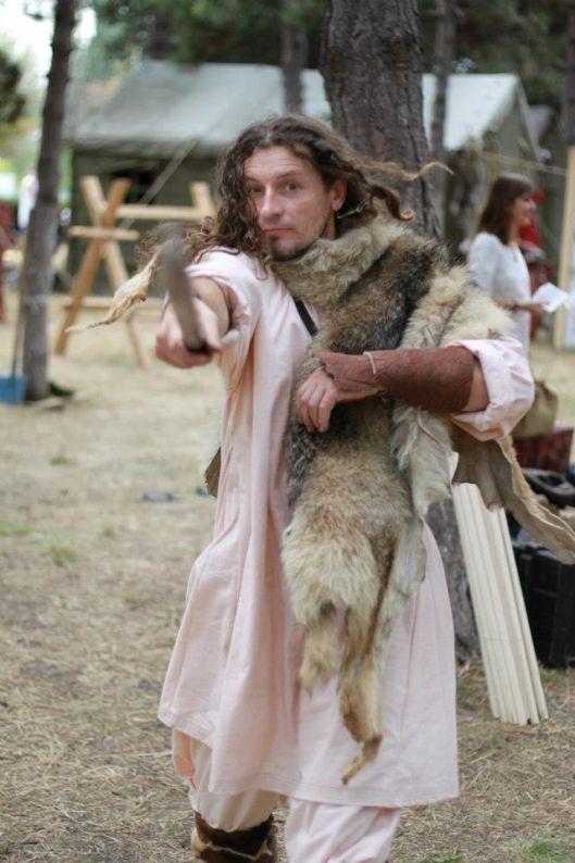 dacian romanian man throwing axe