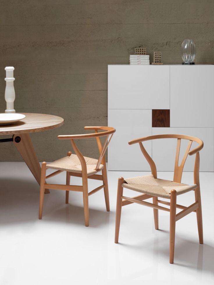 Silla Wishbone asiento de Cuerda - www.muebles.com ®