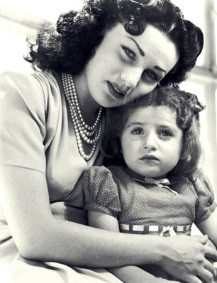 Fawzia Fuad of Egypt and her daughter Shahnaz Pahlavi of Iran