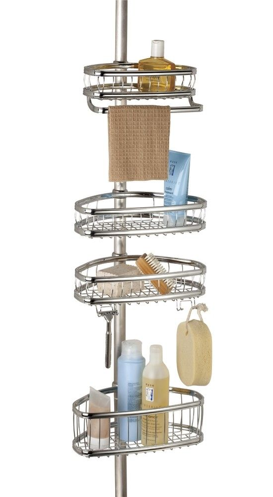 York Bathroom Constant Tension Corner Shower Caddy