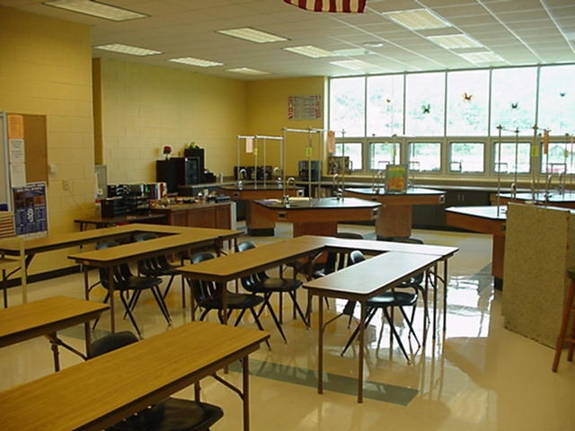 Classroom Lab Inside Craig County Middle School MB Contractors Roanoke Virginia