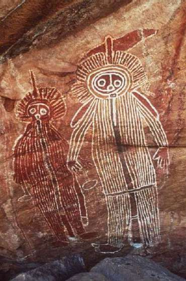 Ancient Australian cave drawing. More information: Join us on Tsu! The new revolutionary social network that pays you just for using it! :) www.tsu.co/TheLightworkers