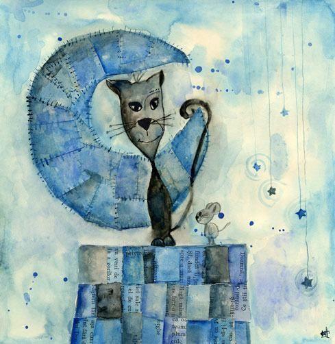 catitO: Cats, Paintings Art, Cat Art, Surrealism Art, Kitty Cat, De Art, Illustrations, Cat Caper, Moon Cat