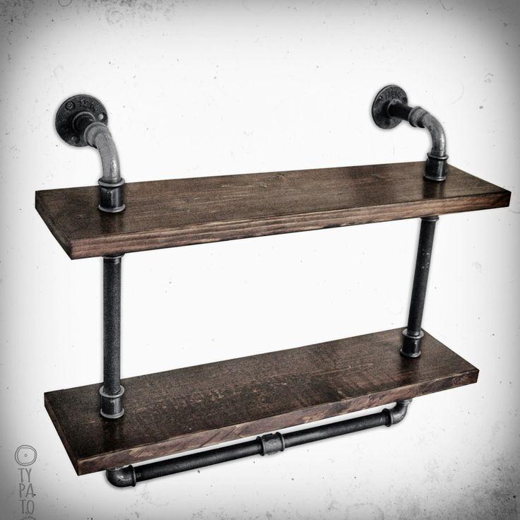 """Dzięki za miłe słowa! ★★★★★ """"Te półki mają wyższą jakość wykonania, z litego drewna.Rury są mocne, dobrze połączone i gładko wpasowane w drewno, wystarczająco ciężkie, aby pomieścić prawie wszystko, co na nich rzucone, ale wystarczająco lekkie, aby łatwo je było naprawić pięciogw"""