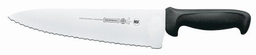 Mundial 5610-10E 10-Inch Serrated Sandwich Knife by Mundial. $23.17. Handle contains built in anti microbial protection. Wide serrated edge Knife. 10-inch Blade. Sandwich Knife. NSF certified. Professional chefs are the most demanding users of kitchen tools. They count on products that enable them to do their best-day in and day out-with speed, precision and ease. That is why chefs all around the world have made Mundial their top choice for professional-grade knives. Who i...