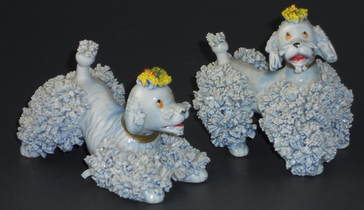 Gray Poodle Dog Figurines with Spaghetti Trim Made in Japan Ceramic Royal   eBay
