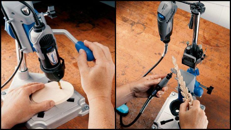 Estação de trabalho Dremel Rotary Tool - transforma sua ferramenta rotativa Dremel em uma furadeira de mesa!