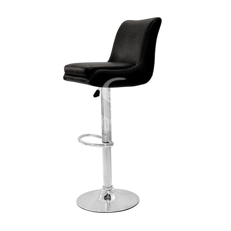 כסא בר זארה פנאומטי ריפוד בצבעים חום שחור אדום שמנת לבן
