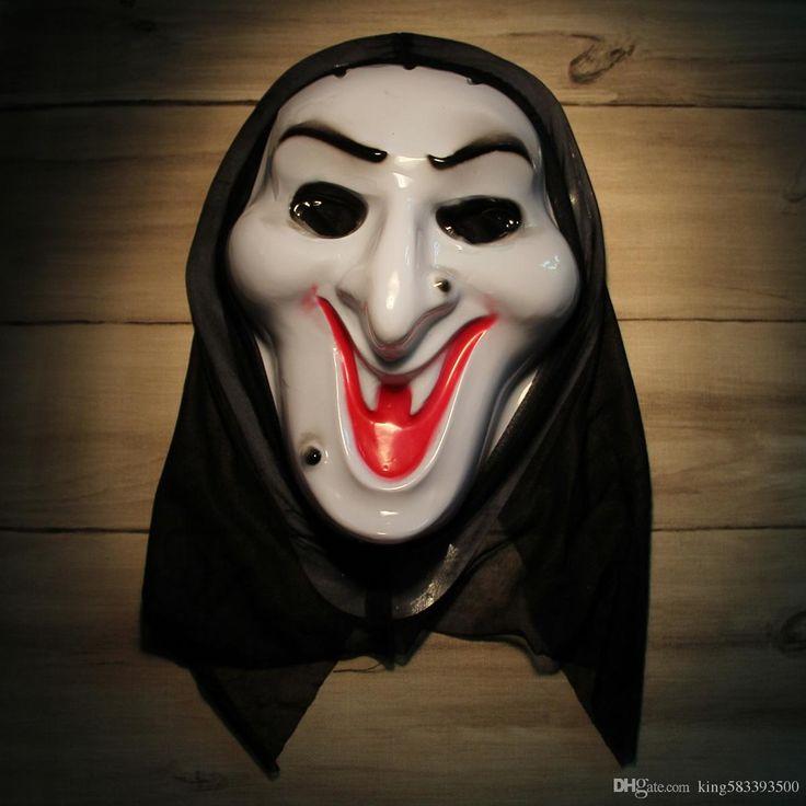 Ужасы Маска Крик Ведьма Анфас Белый Volto Косплей Венецианский Mardi Gras Маски Для Хэллоуина