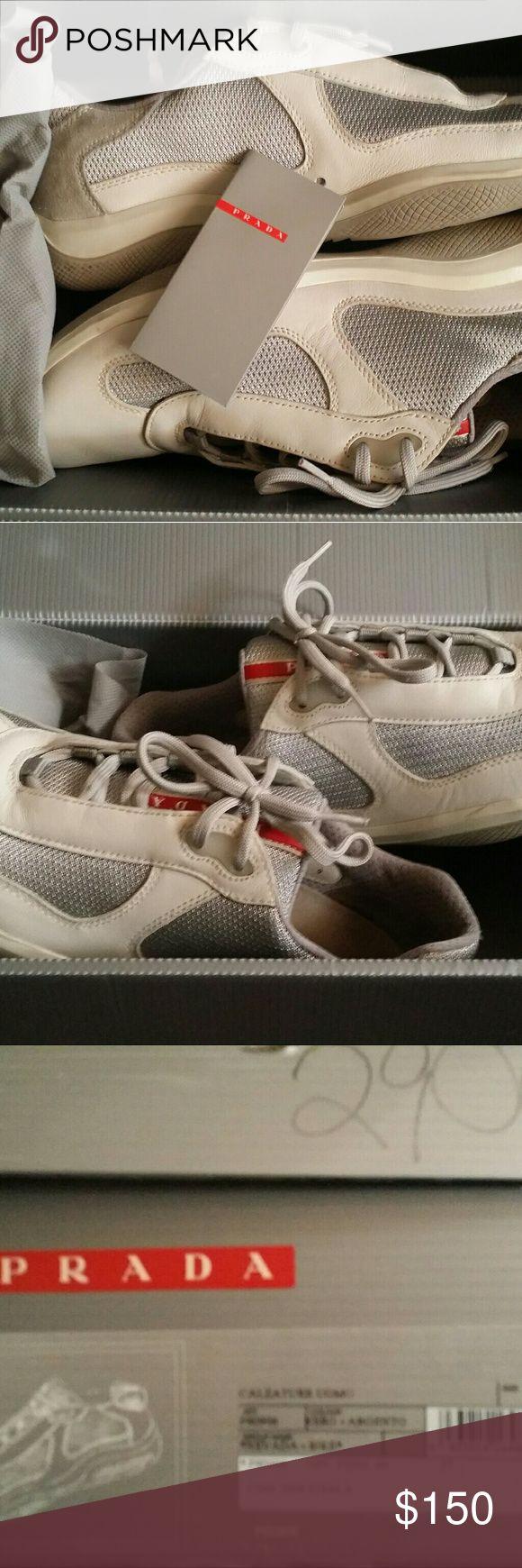 Prada (CALZATURE) Sneakers men's 9 Gently used prada sneakers Prada Shoes Sneakers