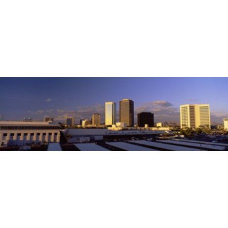 Cityscape Phoenix AZ Canvas Art - Panoramic Images (36 x 12)