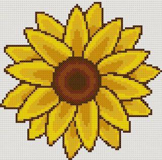 Yiota's Cross Stitch: Sunflower free cross stitch pattern