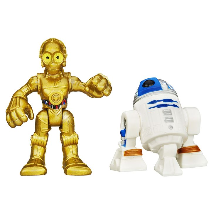 Playskool Heroes Star Wars Galactic Heroes R2-D2 and C-3P0. R2-D2 and C-3P0 figures sized for small hands. Simple poses for epic adventures. Pretend to save the day with R2-D2 and C-3P0 figures. Includes 1 R2-D2 figure and 1 C-3P0 figure.