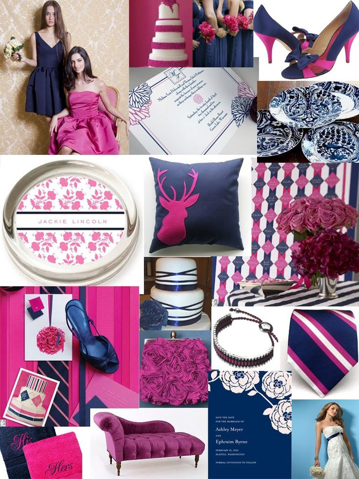 146 best navy pink wedding ideas images on pinterest