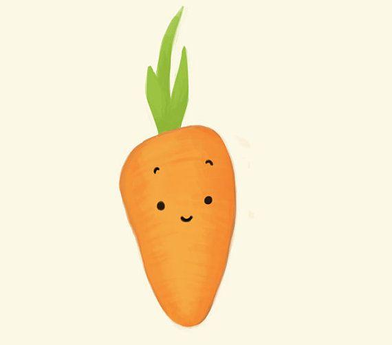 impresión de arte zanahoria / / hermosa serie de por lesjouesgrises
