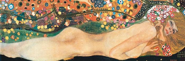 Bisce d'acqua (fidanzate) II, particolare, (1904 rivisto nel 1907)  - Klimt Gustav (1862-1918) - STAMPA SU TELA € 31,08