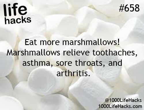 """No. Complete rubbish. Marshmallow ROOT has been used to treat the stuff listed but seeing as how marshmallows such as the ones pictured are not made with marshmallow root, they would not possess any of the supposed """"healing"""" properties attributed to such."""
