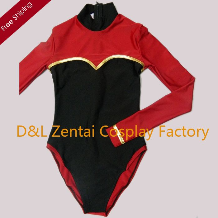 >> Click to Buy << Free Shipping DHL Sexy Adult Lycra Spandex Bodysuit One-Piece Swimsuit Leotard Suits in Black and Red Plus Size #Affiliate