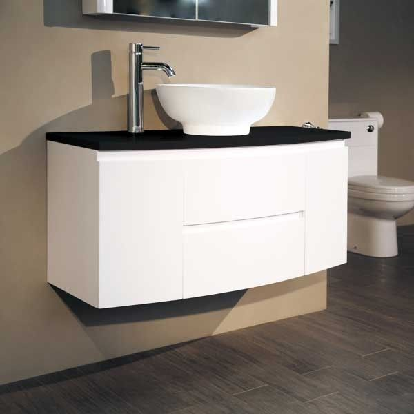 black and white bathroom furniture. voss 1010 wall mounted black countertop door and drawer unit white bathroom ideas furniture