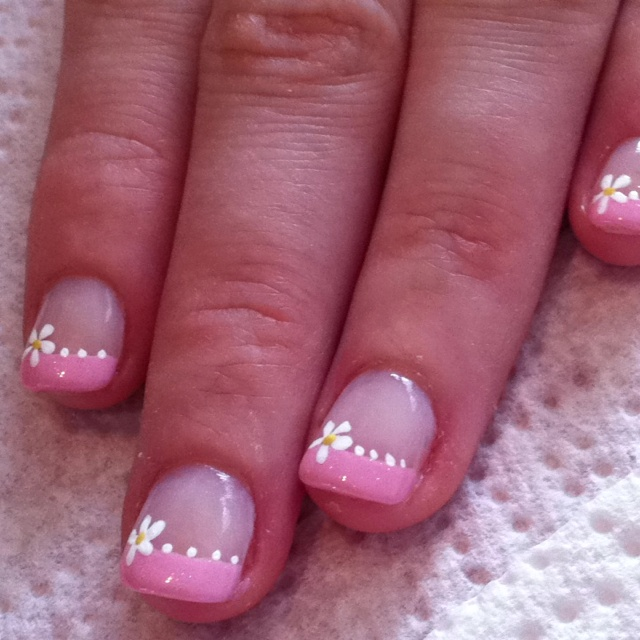 A dear friend of mine is an amazing nail art person - one of many great assets. She does all of it free hand. So nice & Springy!
