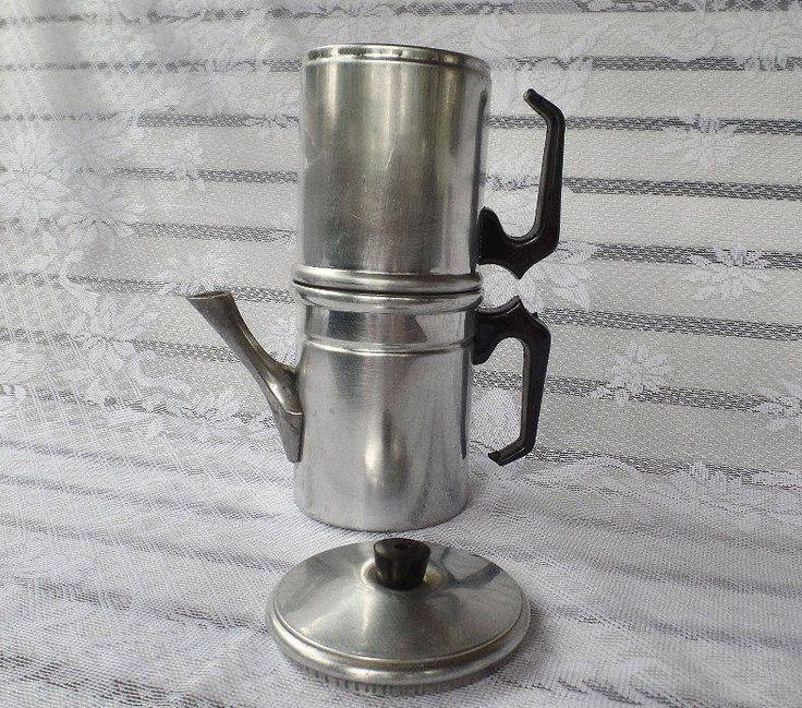 Flip Drip Vintage Italian Expresso Coffee Maker, Aluminum Metal Coffee Maker, Expresso Coffee Maker, Stove Top Coffee Maker, Strong Coffee by SierrasTreasure on Etsy