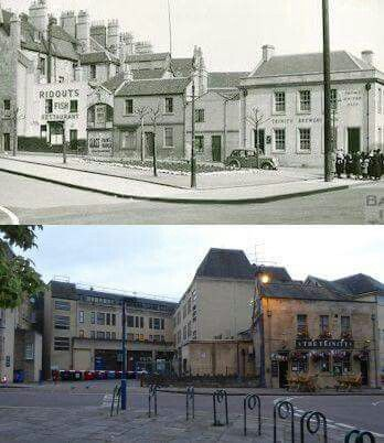 Top 1939' bottom 2016. New Street off Kingsmead Square, Trinity pub ( brewery as was)