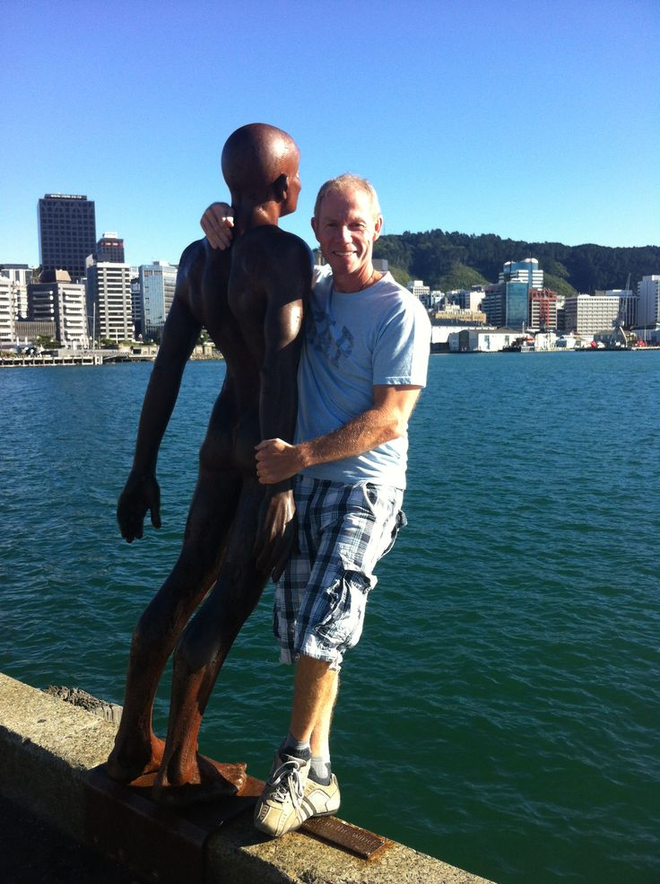 With one of the many statues and artist pieces dotted around the #Wellington #Waterfront