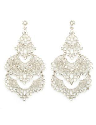rhinestone filigree chandellier earrings