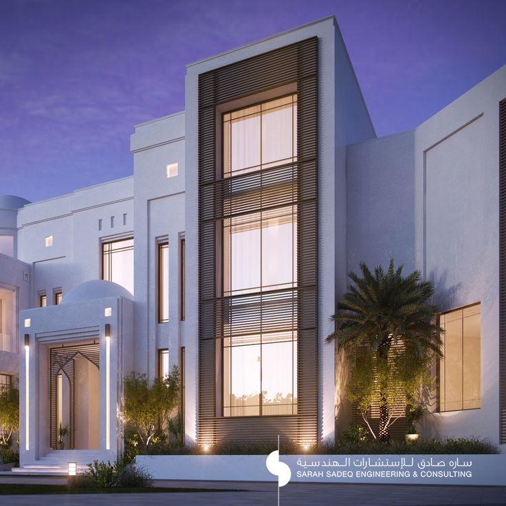 Private villa 2000 m kuwait sarah sadeq architectes for Exterieur villa design