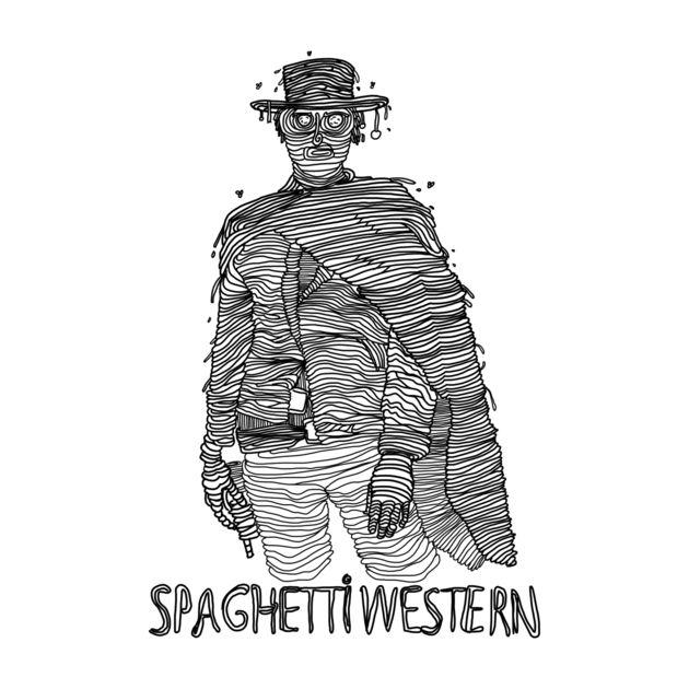 Awesome 'Spaghetti+Western' design on TeePublic! https://www.teepublic.com//t-shirt/276667-spaghetti-western  #design #spaghetti #western #movies #tshirt #drawing #awesome