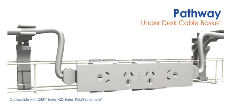 Elsafe introduces the new PATHWAY under desk modular cable management solution. See more at www.elsafe.com.au/pathway