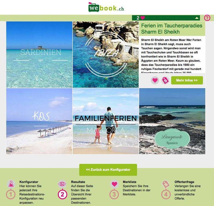 webook.ch Ferien Konfigurator Übersicht