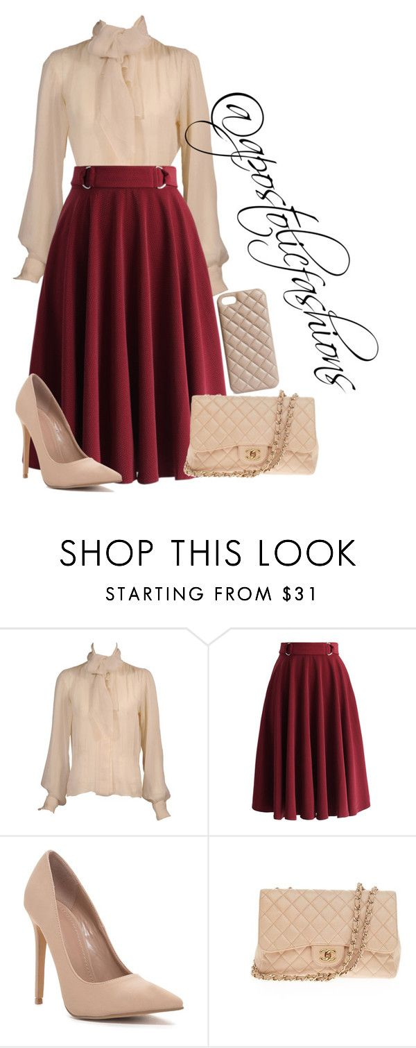 """Apostolic Fashions #1376"" by apostolicfashions on Polyvore featuring Yves Saint Laurent, Chicwish, Chanel and The Case Factory"