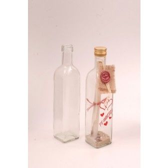 Sticla 500 ml Marasca | Sticle cadou marturii nunta | Sticle alcool pt nunta