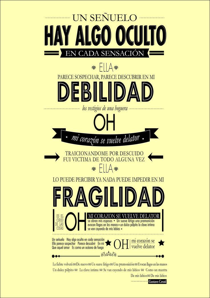 """Adaptación de la letra """"Corazón Delator"""" de Gustavo Cerati."""