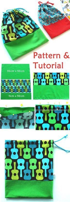 Gift bag from a fabric. Pattern & Tutorial http://www.handmadiya.com/2017/10/quick-gift-bag-tutorial.html