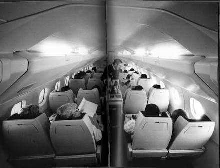Marvelous Early Air France Concorde Cabin From The 70s Designed By Raymond Loewy